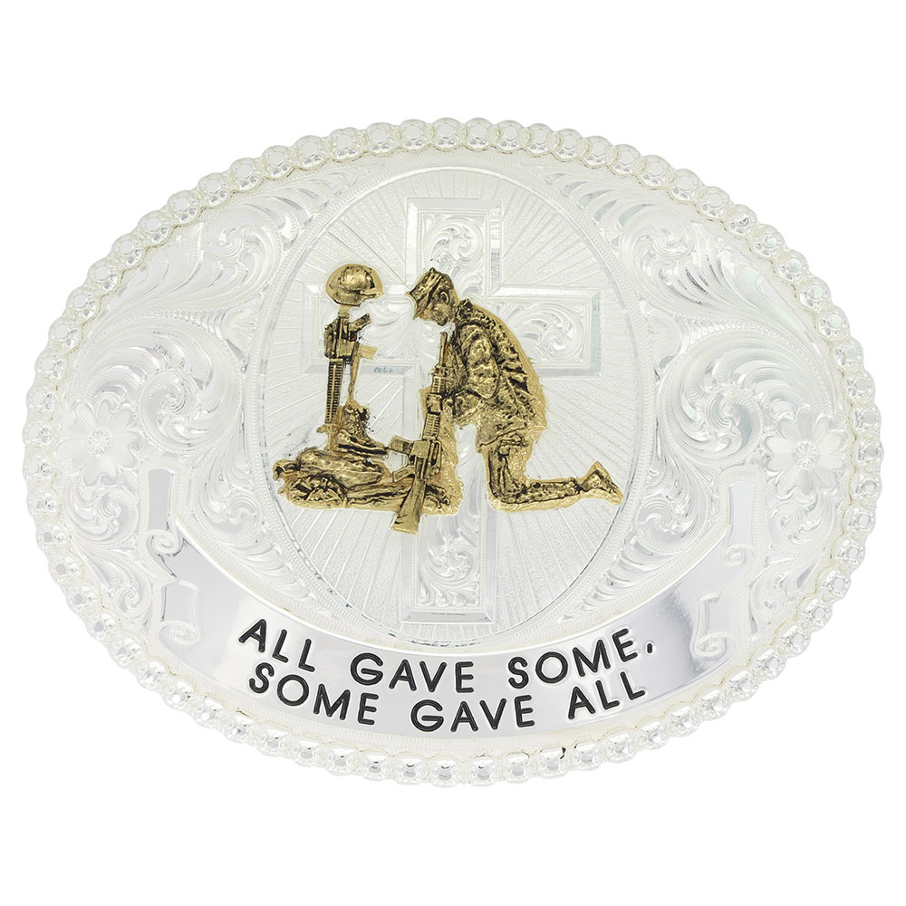 All Gave Some, Some Gave All Western Belt Buckle