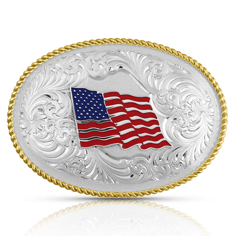 Fly Free USA Flag Buckle
