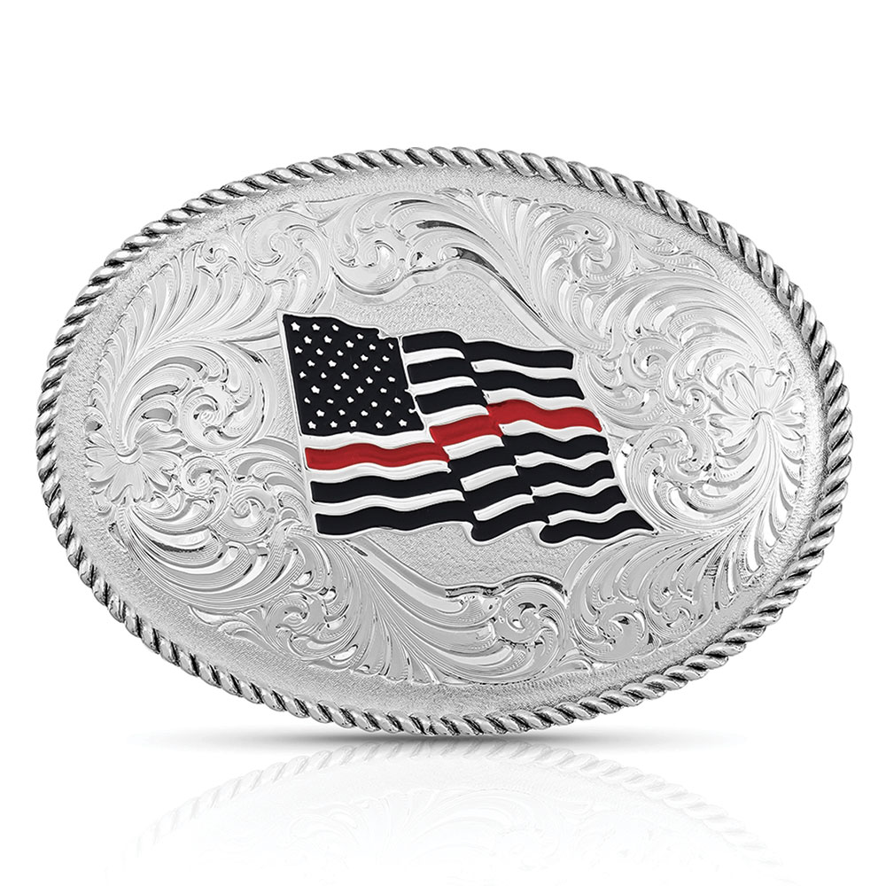 Thin Red Line Flag Buckle