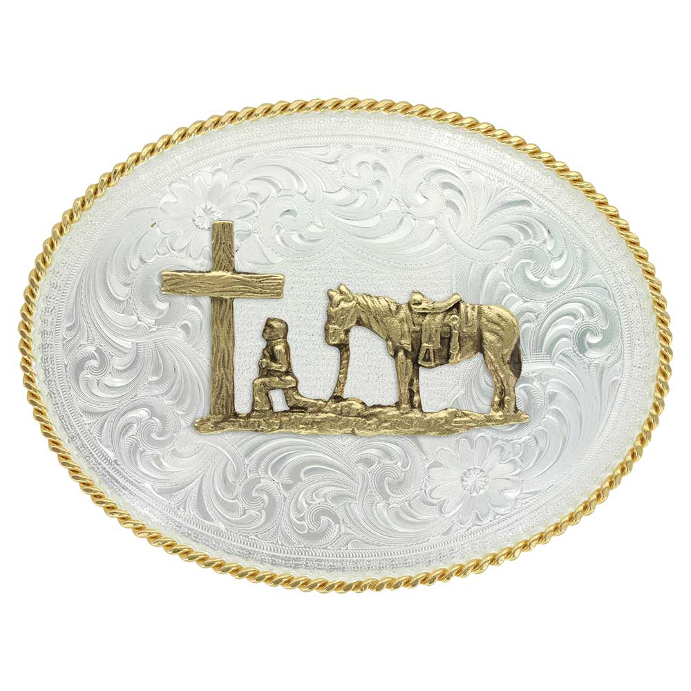 1350 Series Christian Cowboy Western Belt Buckle