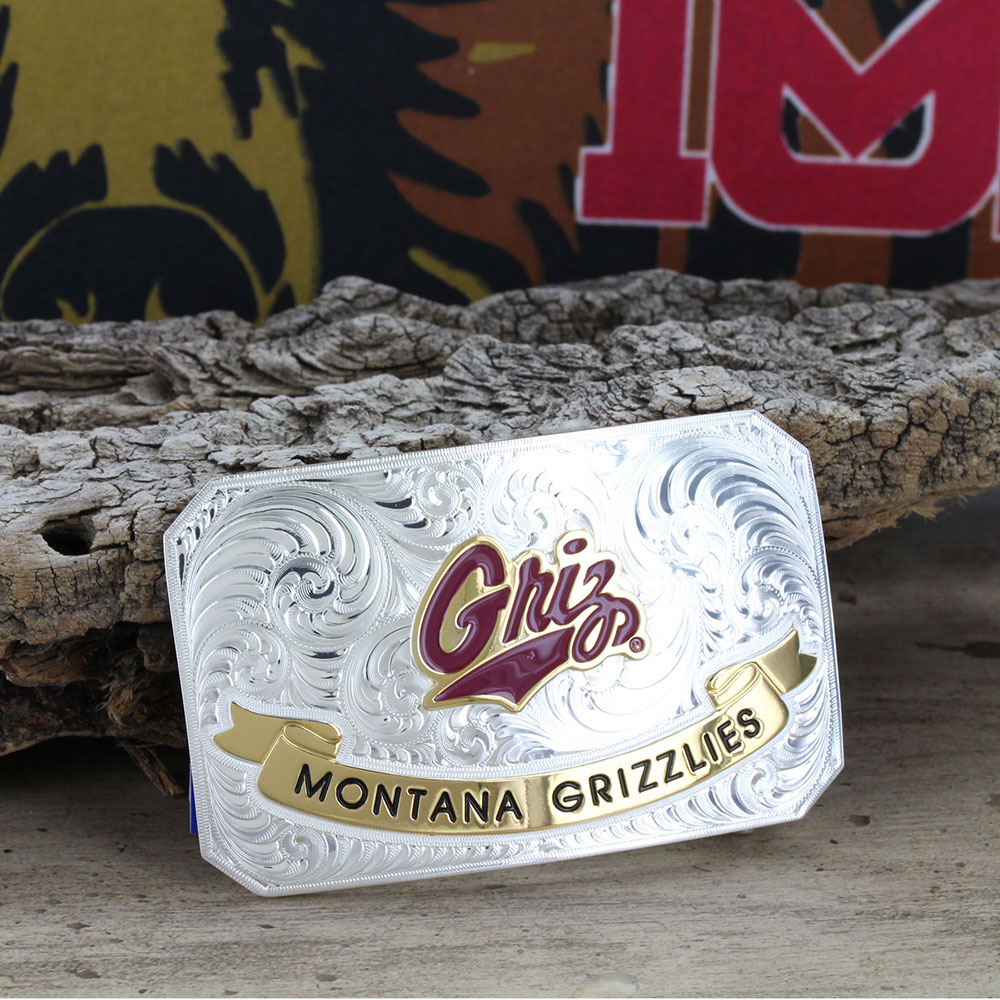 University of Montana Griz Rectangular Buckle