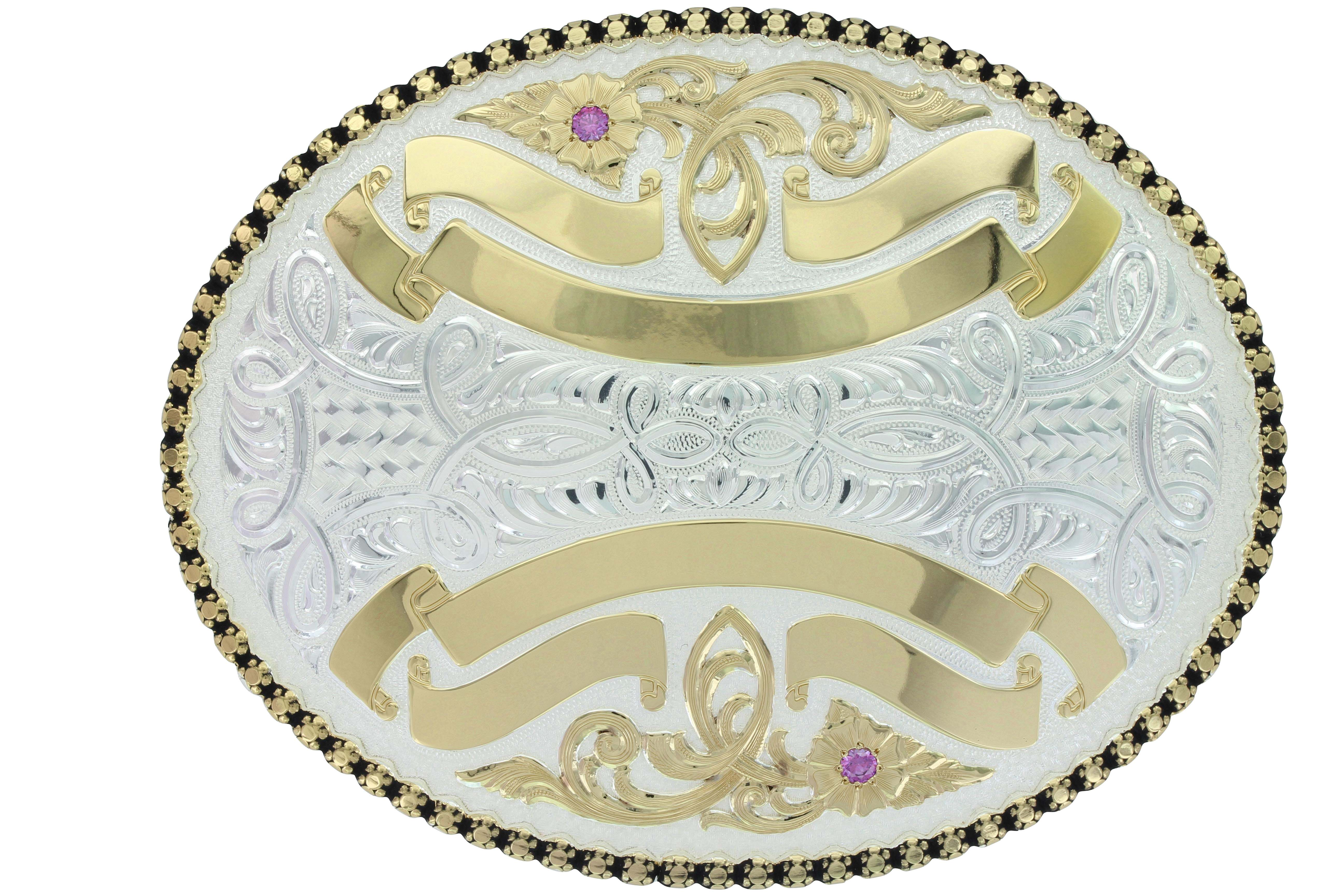 Sheridan Dual-Figure Trophy Buckle (3.75
