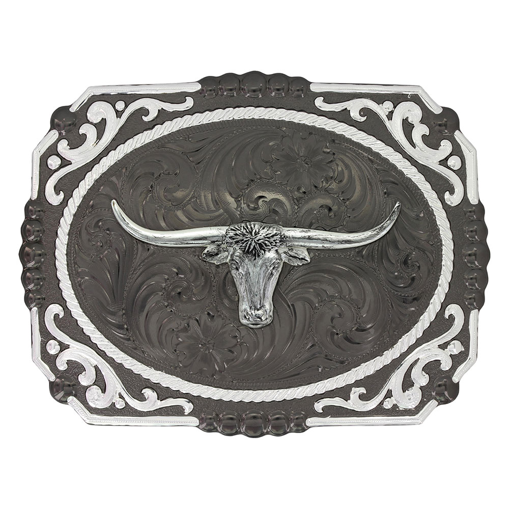 Gunmetal Cameo Filigree with Longhorn Steer Buckle