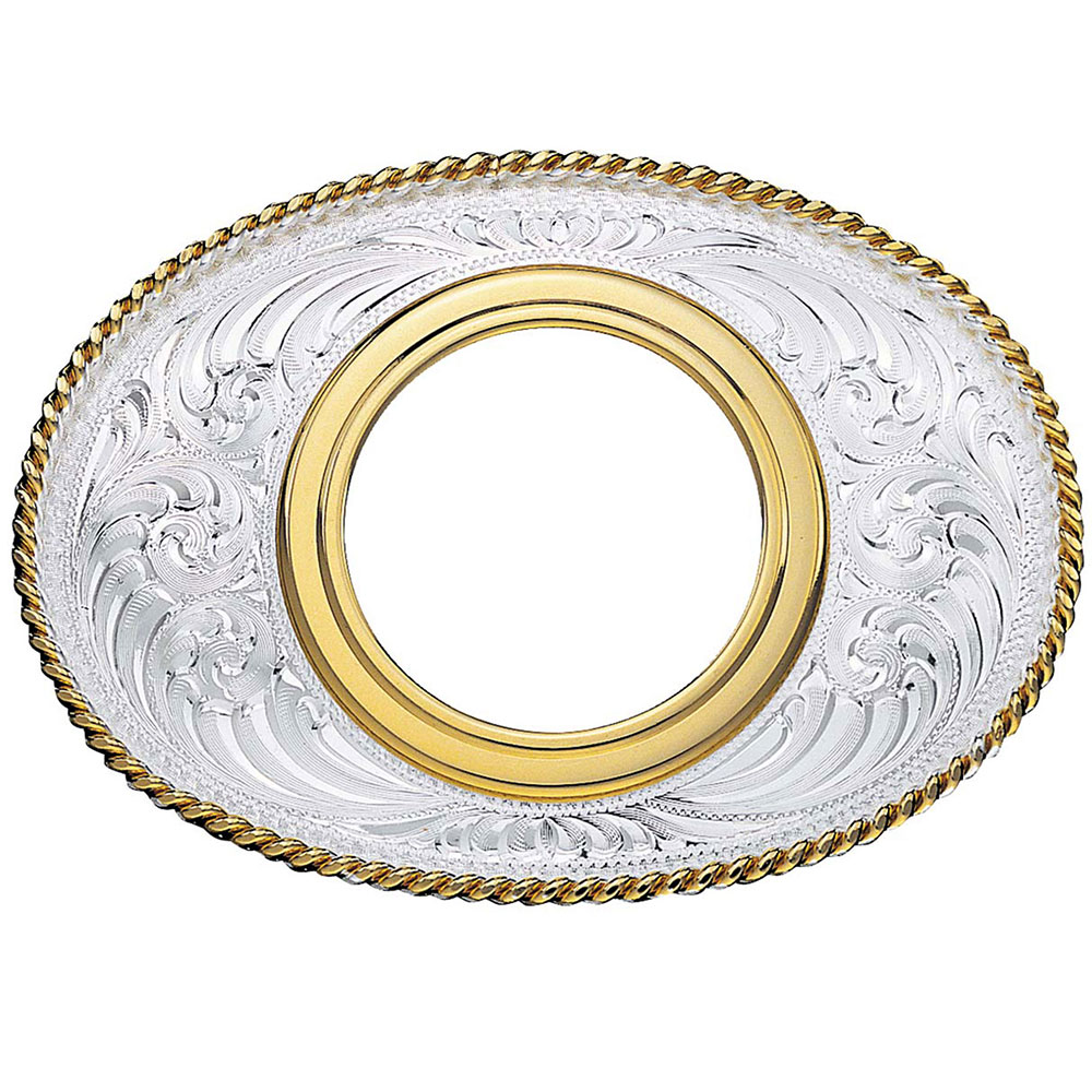 Coin Holder Western Belt Buckle without Coin