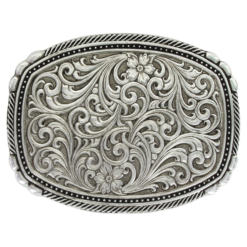 Antiqued Pinpoints and Twisted Rope Trim Buckle