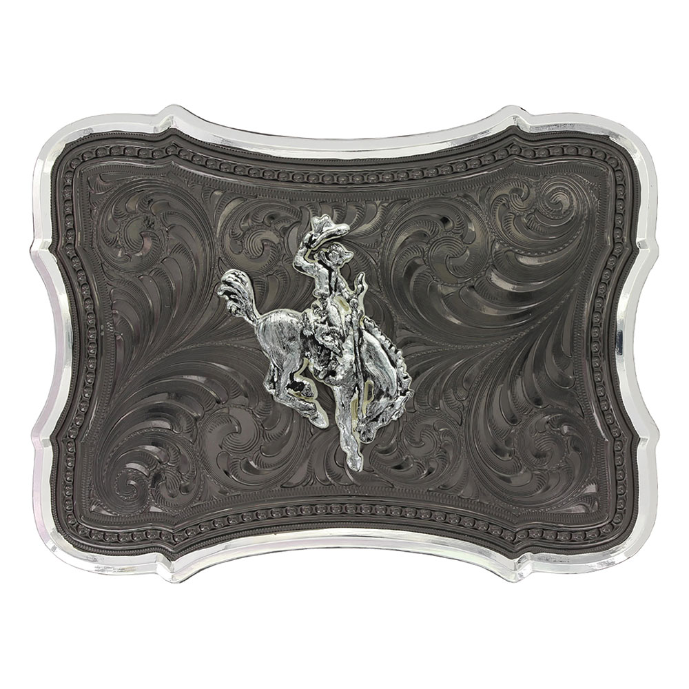 Gunmetal Scalloped Point with Ranch Rodeo Buckle