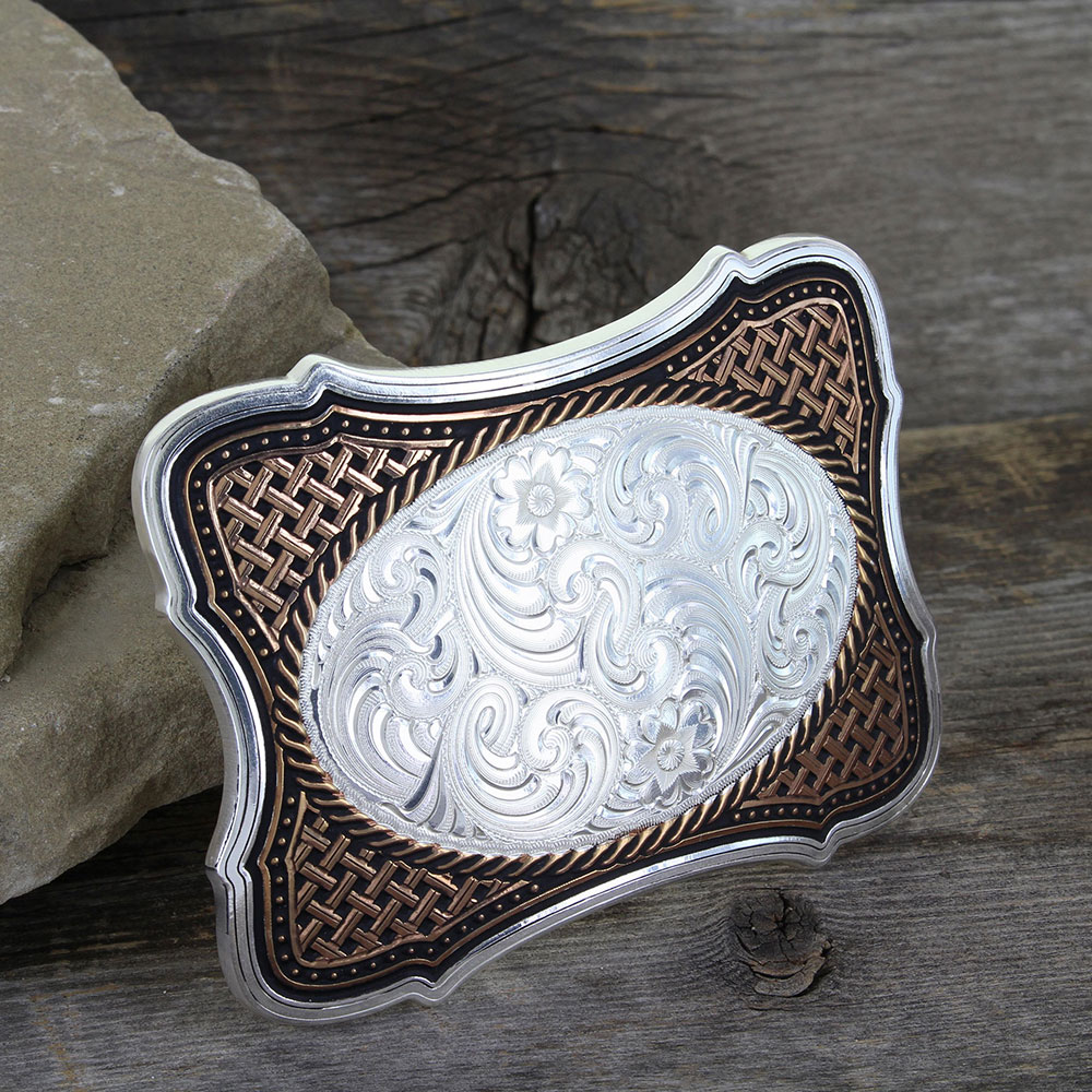 Scalloped Legacy Weave Portrait Buckle
