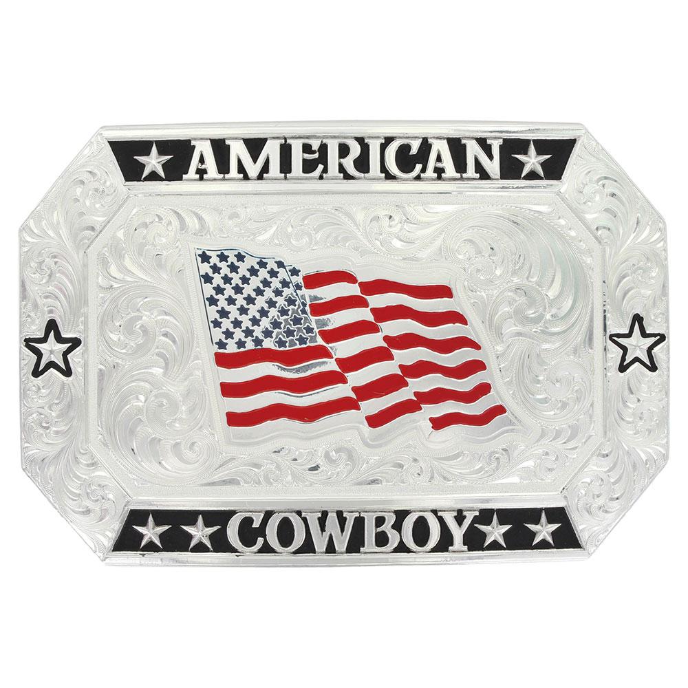 American Cowboy Flag Buckle