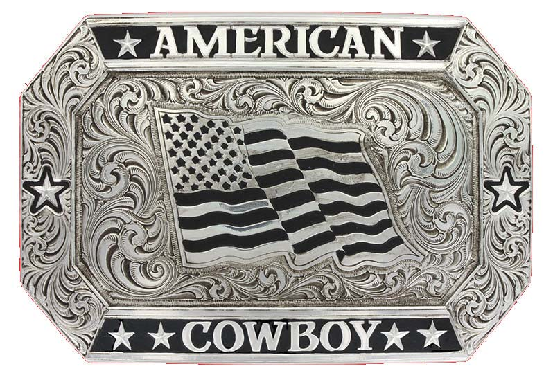 Antiqued American Cowboy Buckle (4