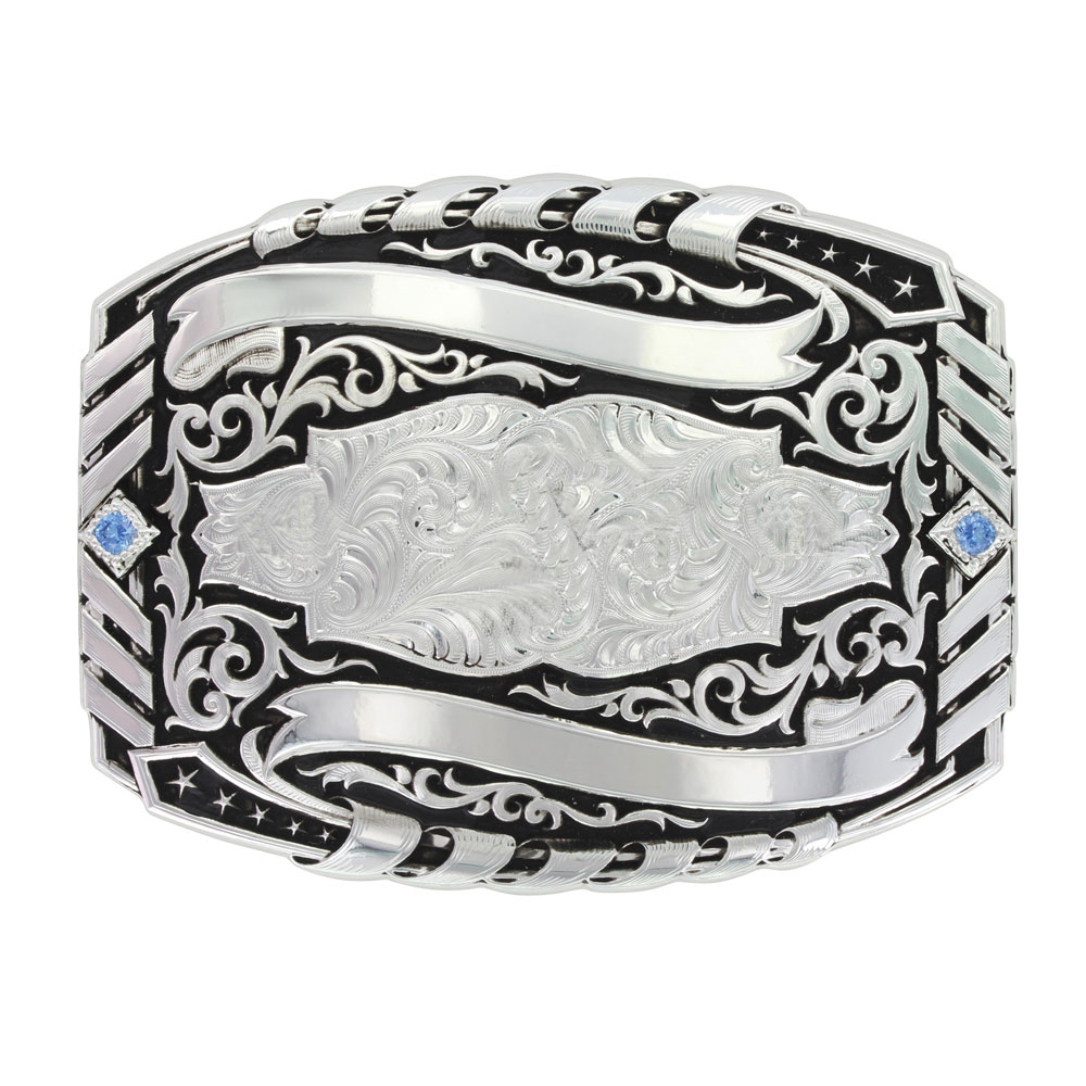 Basketweave Trophy Buckle (4.25