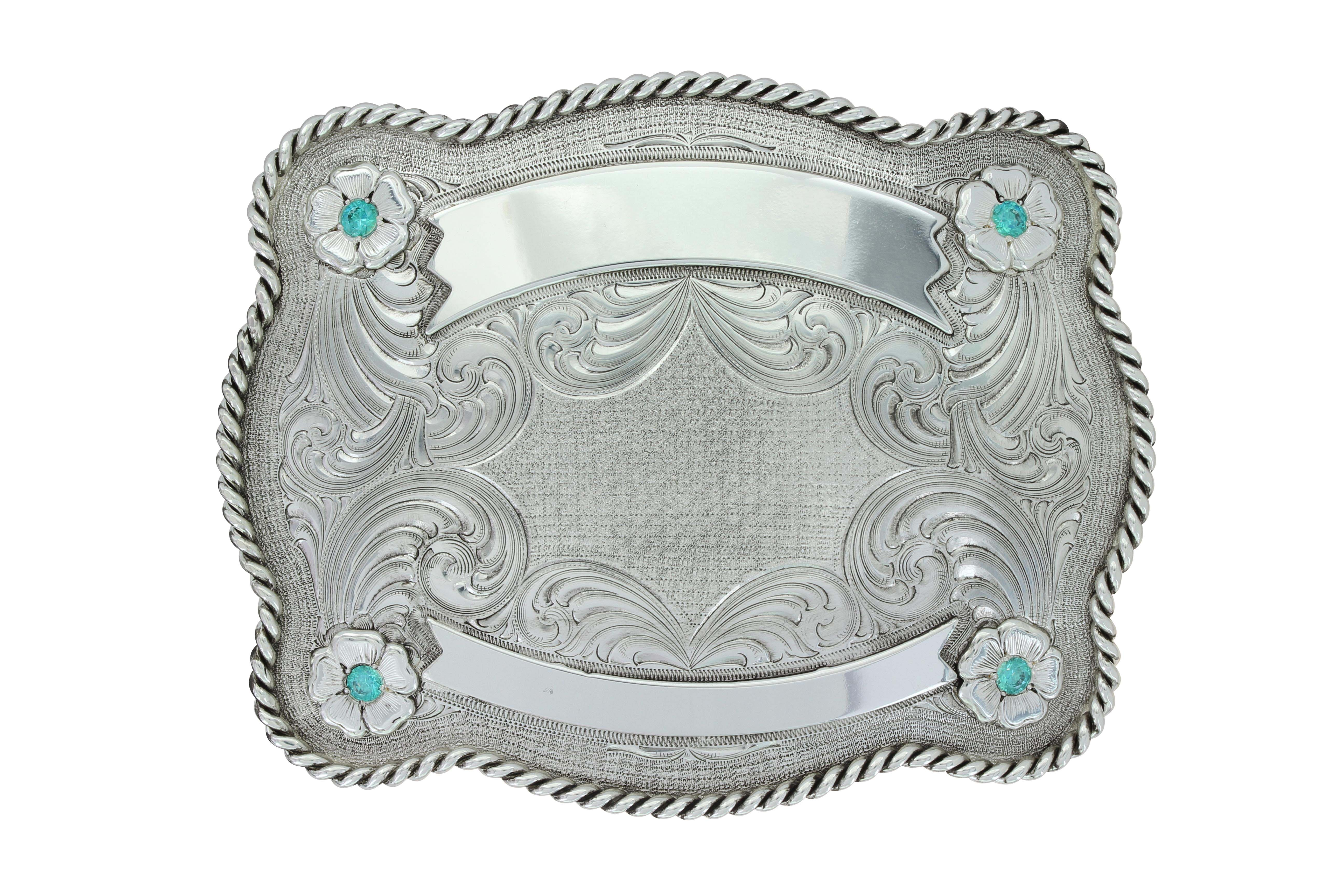 Antiqued Fort Benton Trophy Buckle (4.25