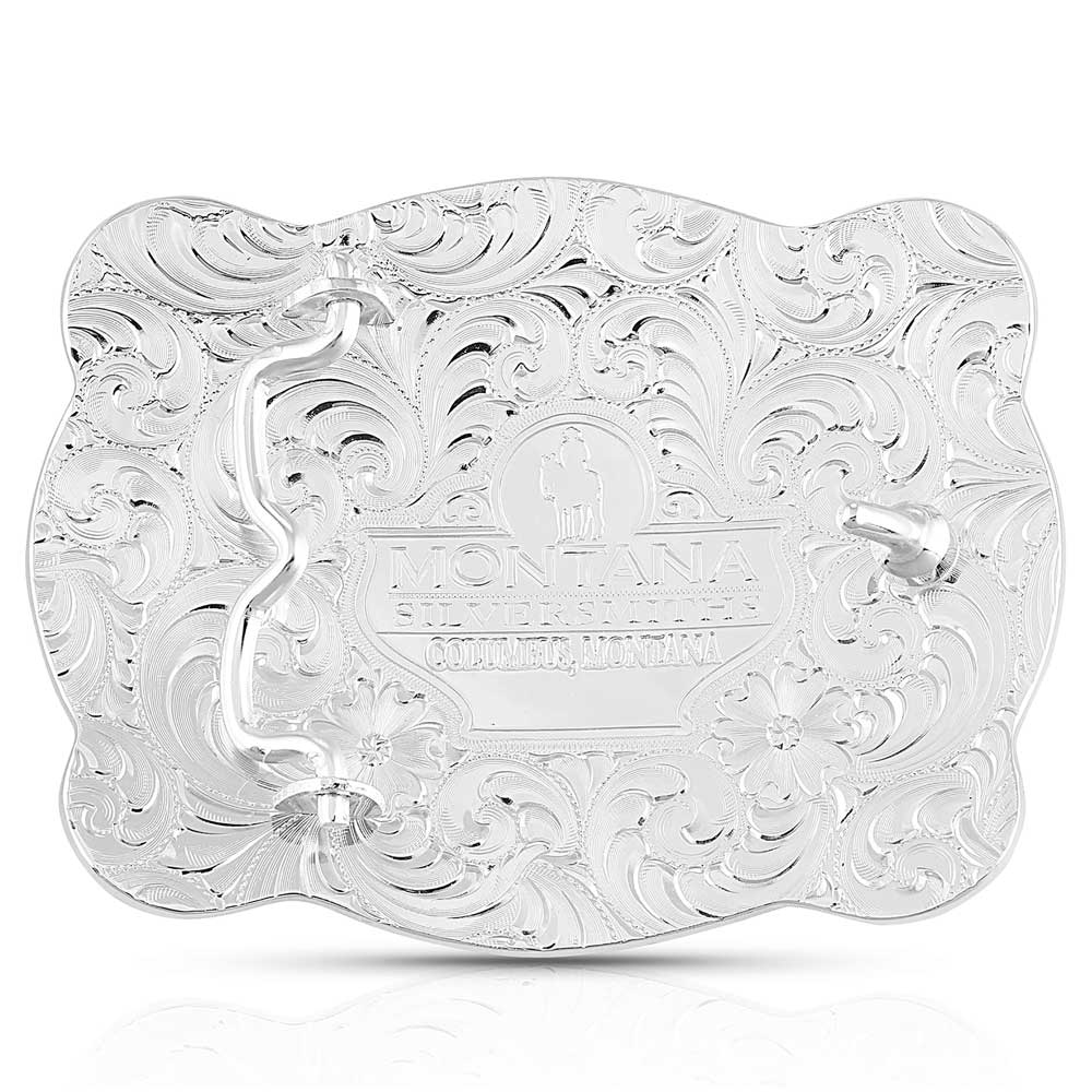 Simple Scalloped Silver Buckle