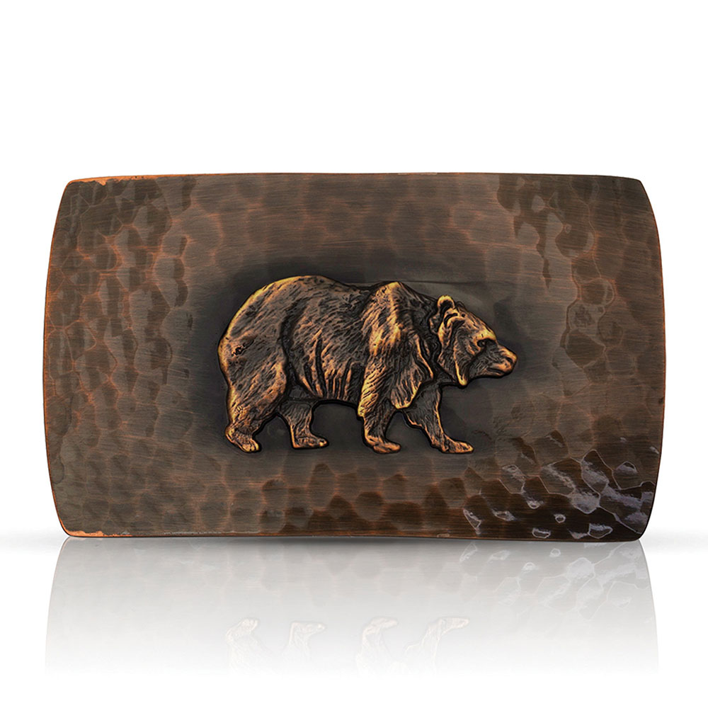 Cascade Buckle with Grizzly Bear