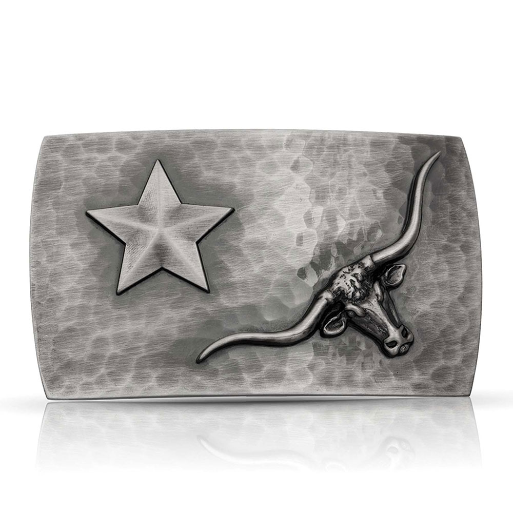 River Rock Cascade Longhorn Star Buckle