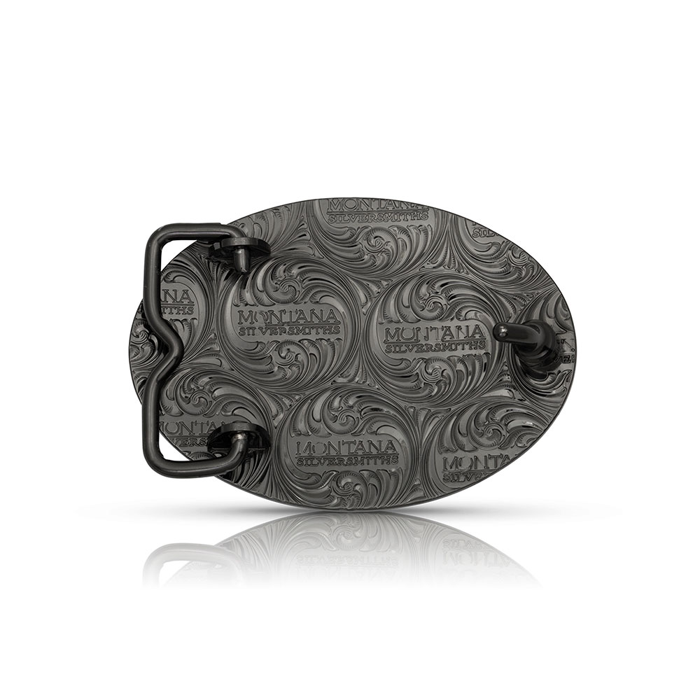 River Rock Moose Buckle