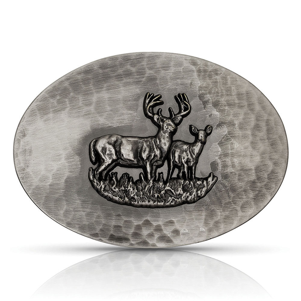 River Rock Nature's Pair Deer Buckle