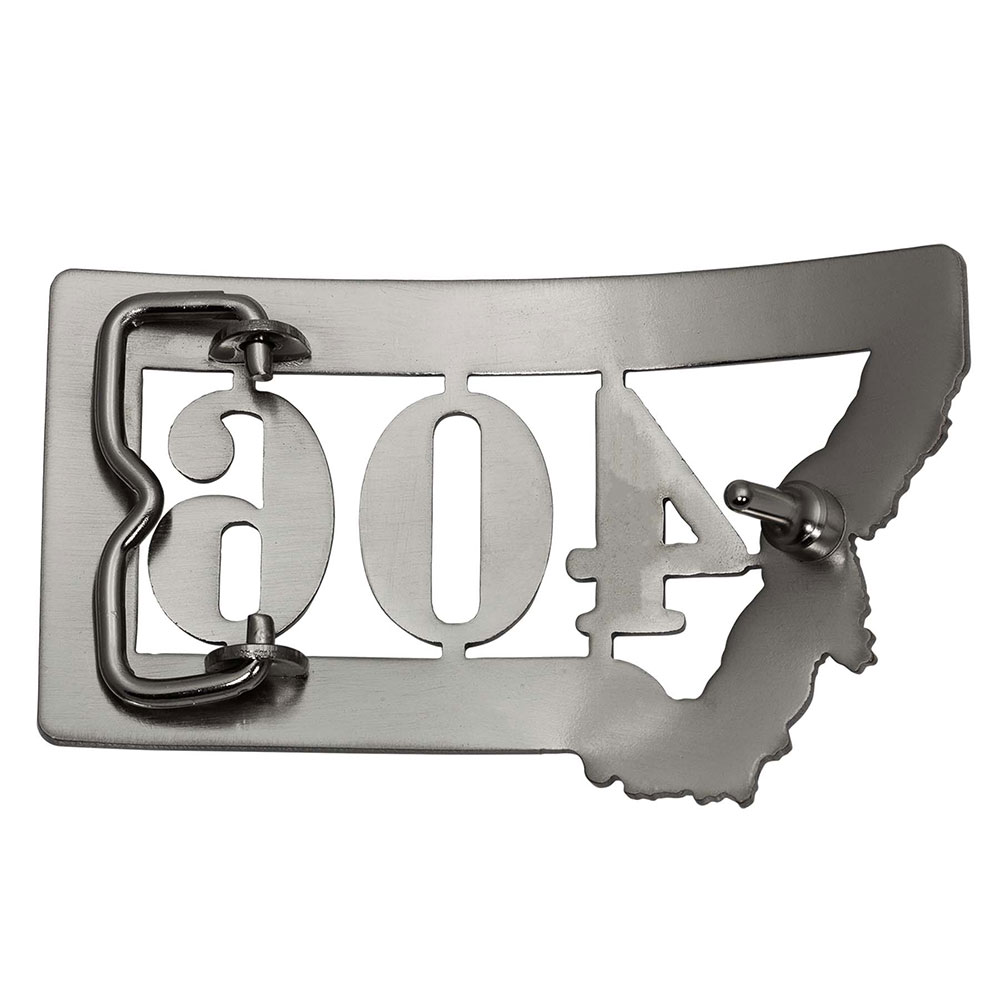 Hammered Montana 406 State Buckle