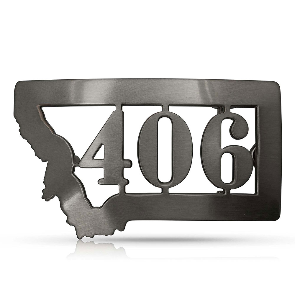 Brushed Montana 406 State Buckle