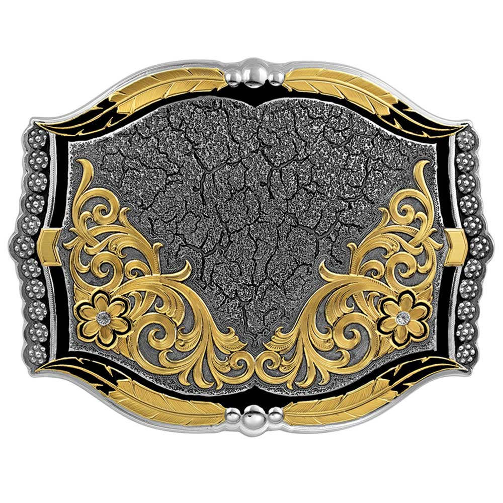 Cracked Earth Custom Buckle