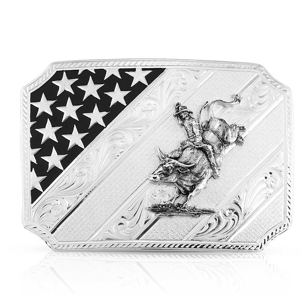 All American Bullrider Silver Buckle
