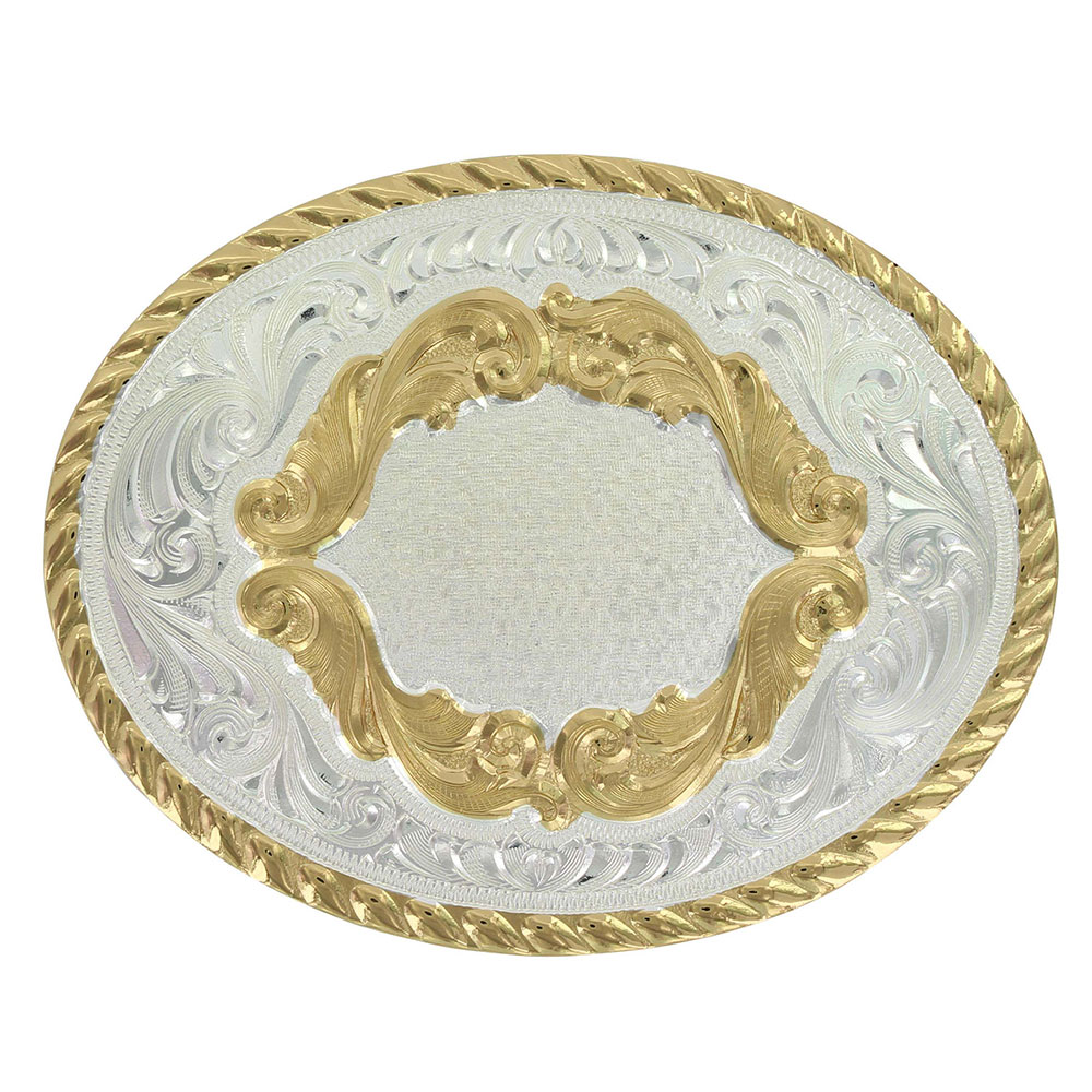 Custom Small Oval Western Belt Buckle - Any Figure
