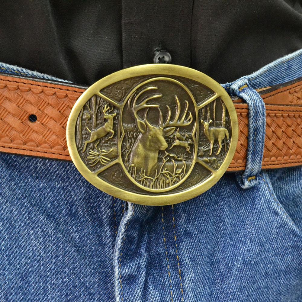 Deer Heritage Attitude Belt Buckle