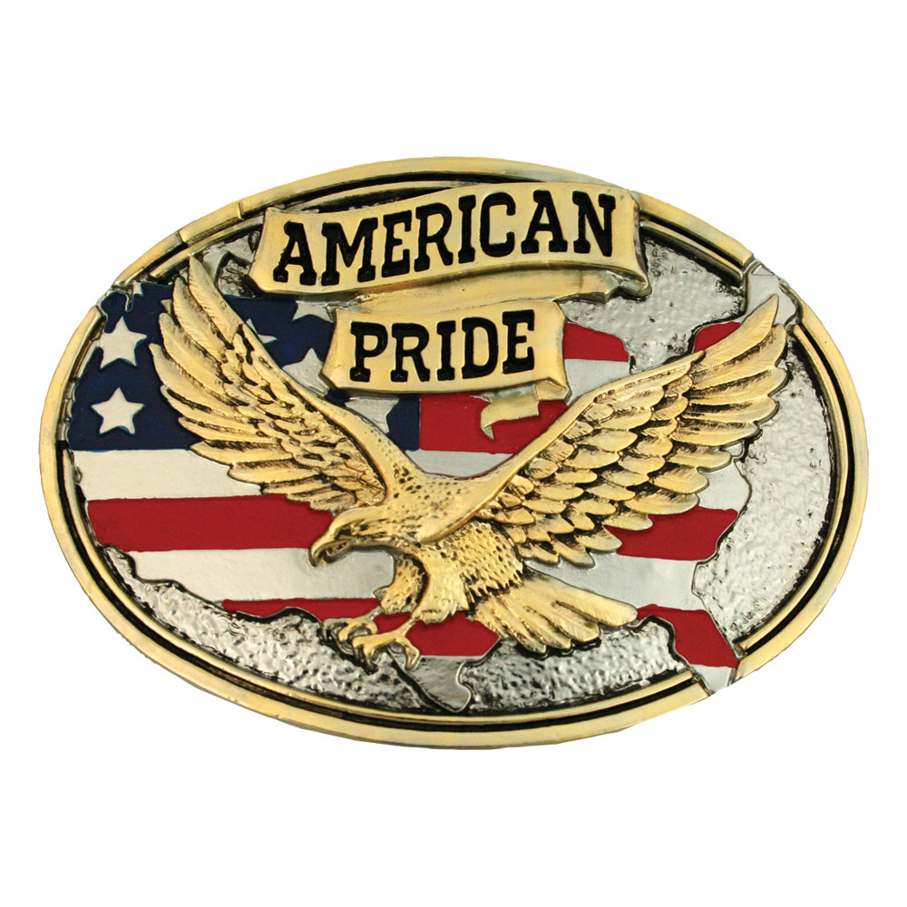 American Pride Attitude Belt Buckle