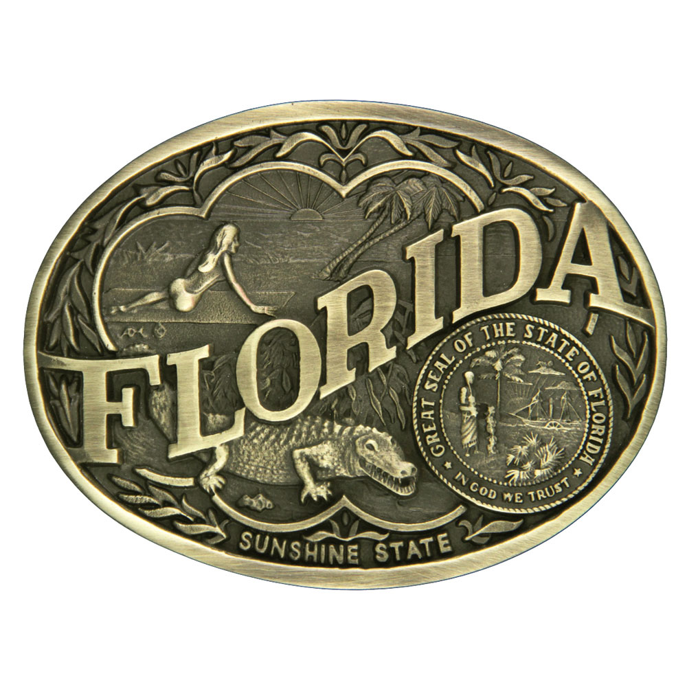 Florida State Heritage Attitude Buckle