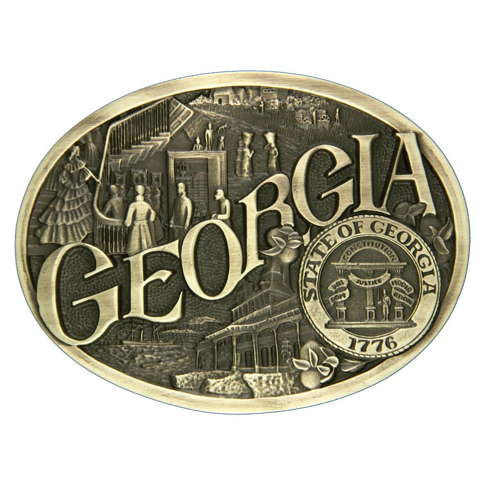 Georgia State Heritage Attitude Buckle