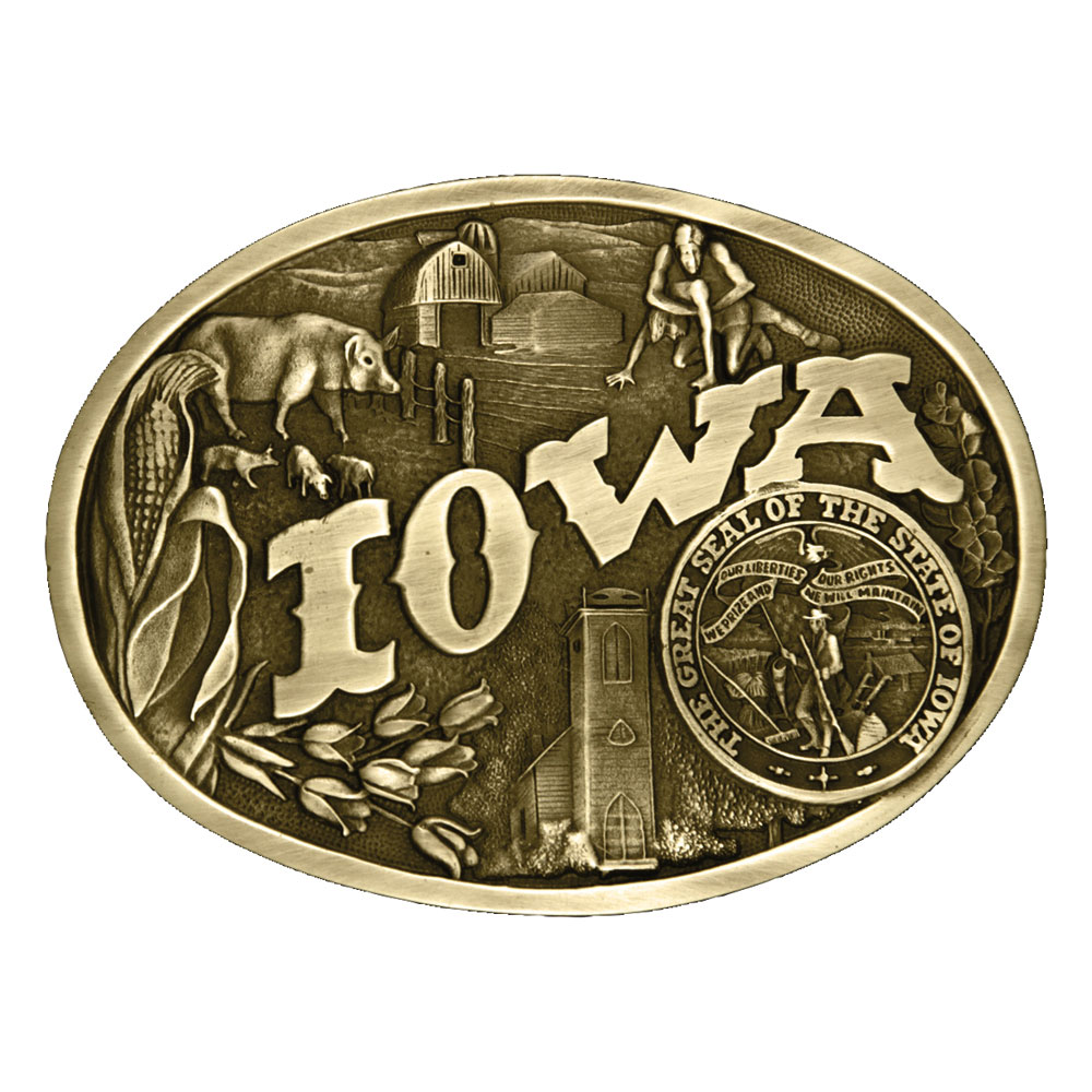 Iowa State Heritage Attitude Buckle