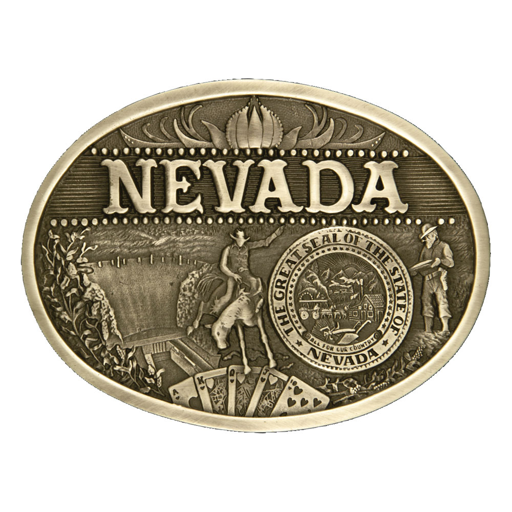 Nevada State Heritage Attitude Buckle