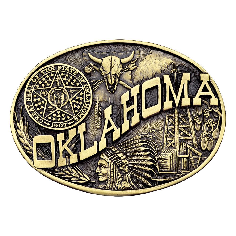 Oklahoma State Heritage Attitude Buckle