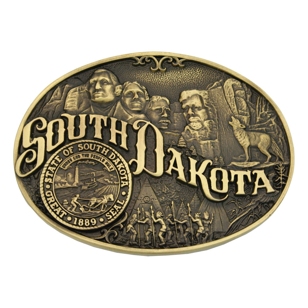 South Dakota State Heritage Attitude Buckle