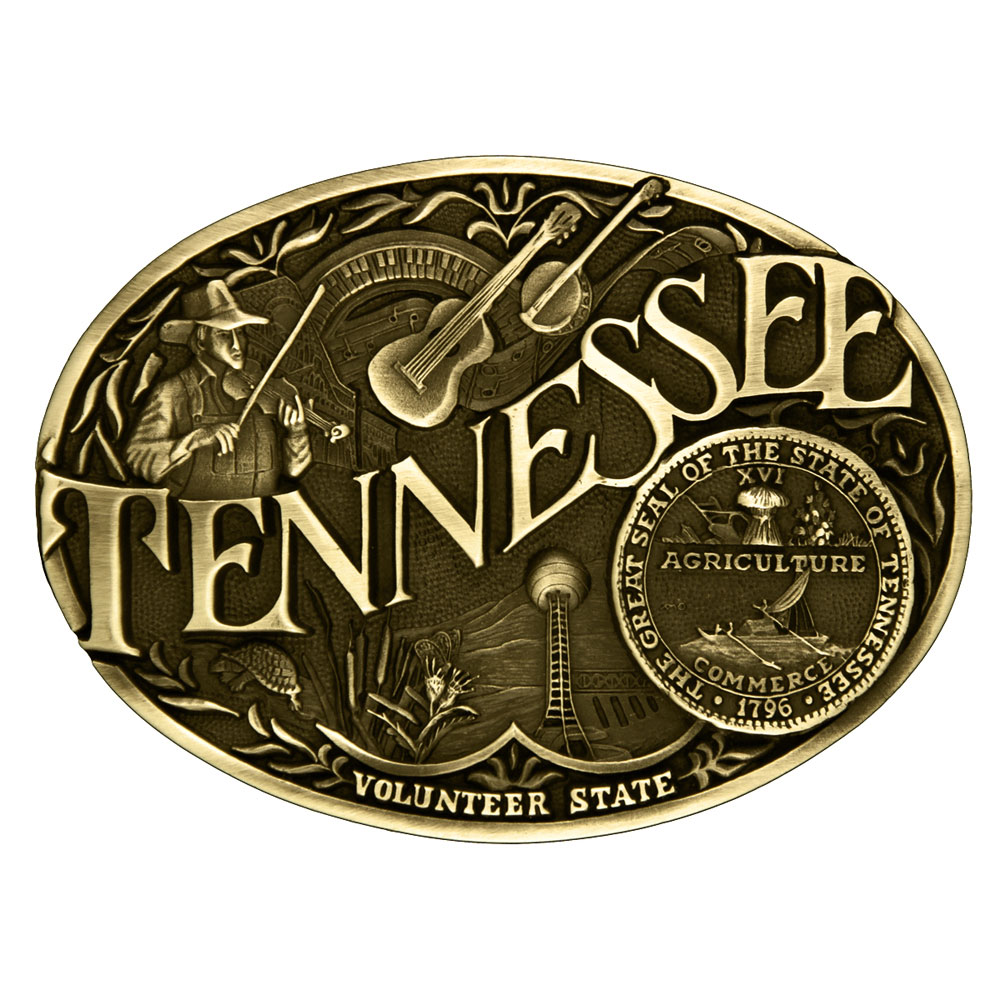 Tennessee State Heritage Attitude Buckle