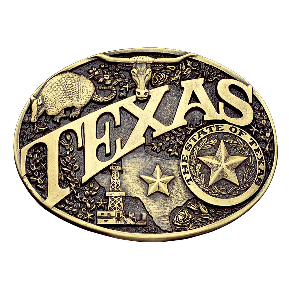 Texas State Heritage Attitude Buckle