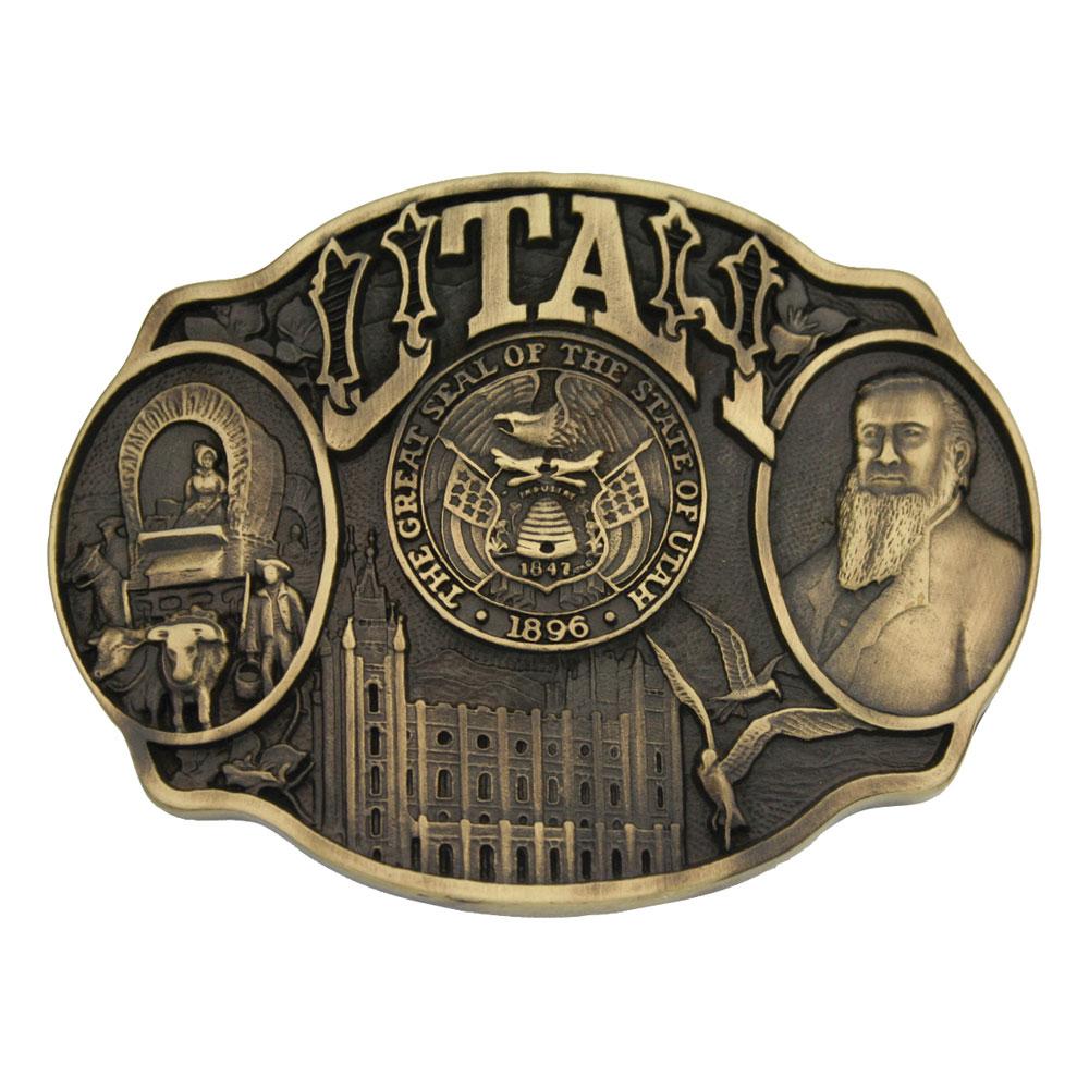 Utah State Heritage Attitude Buckle