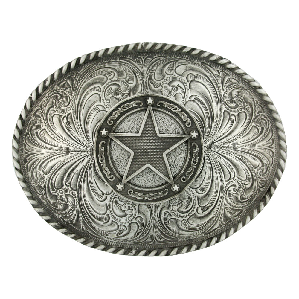 Star Concho Classic Antiqued Attitude Belt Buckle