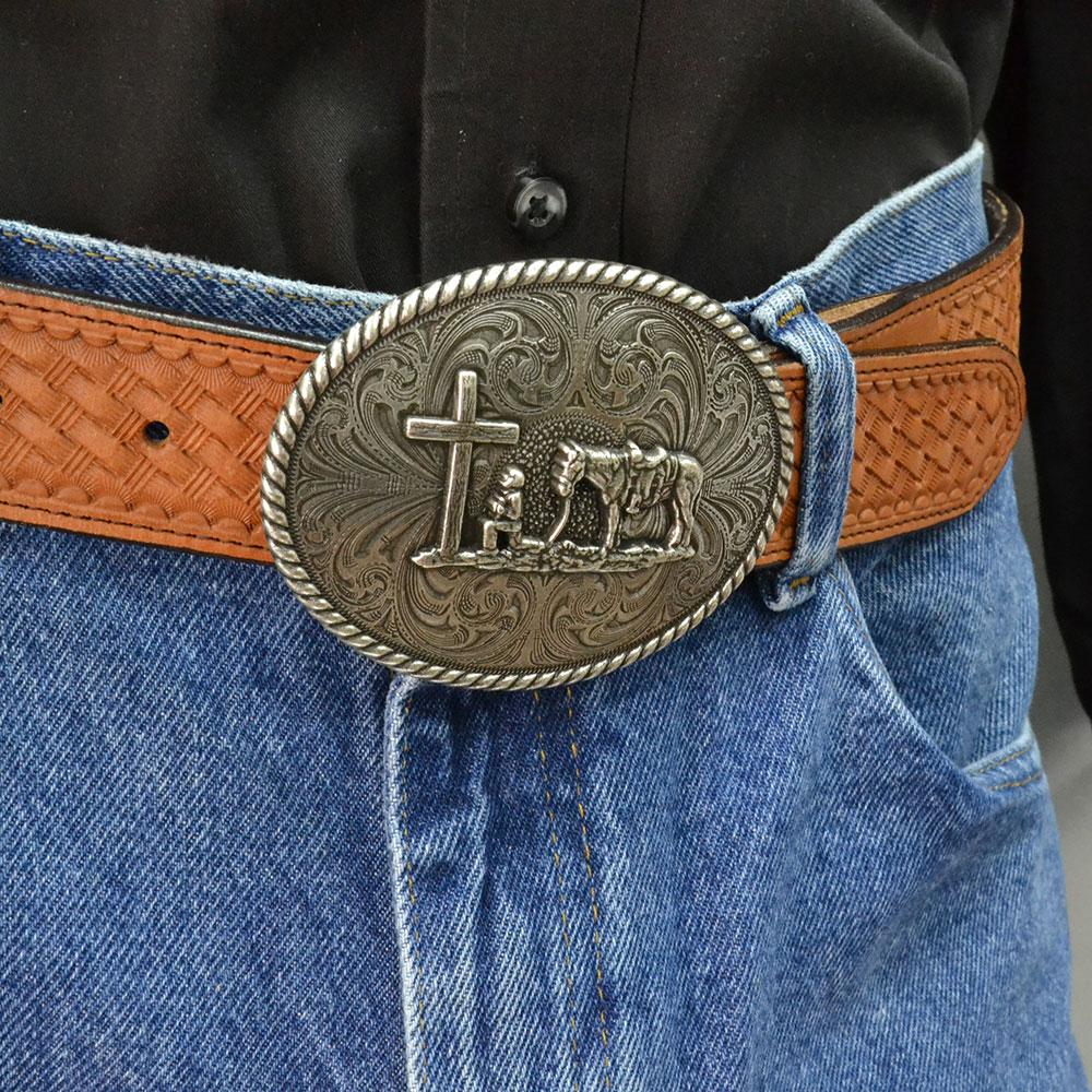 Christian Cowboy Attitude Belt Buckle