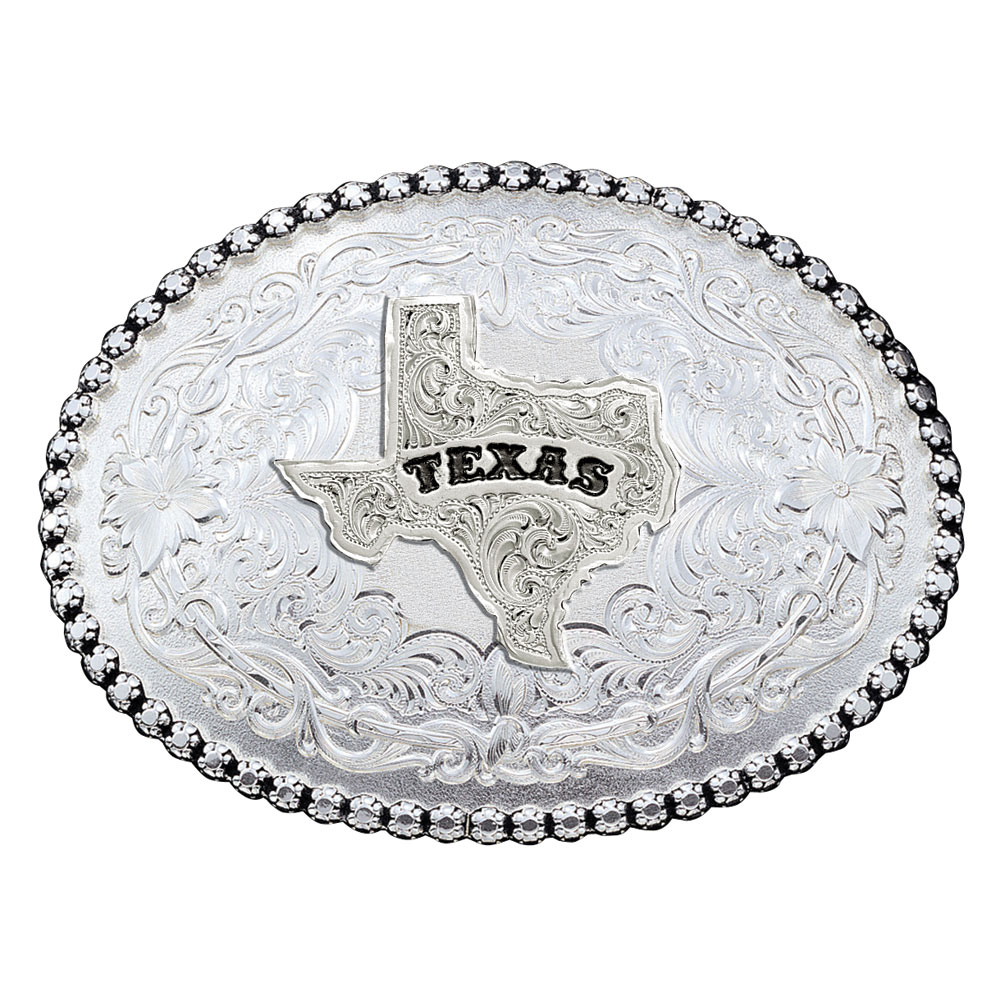 Antiqued Silver 6189 Series Texas State Western Belt Buckle