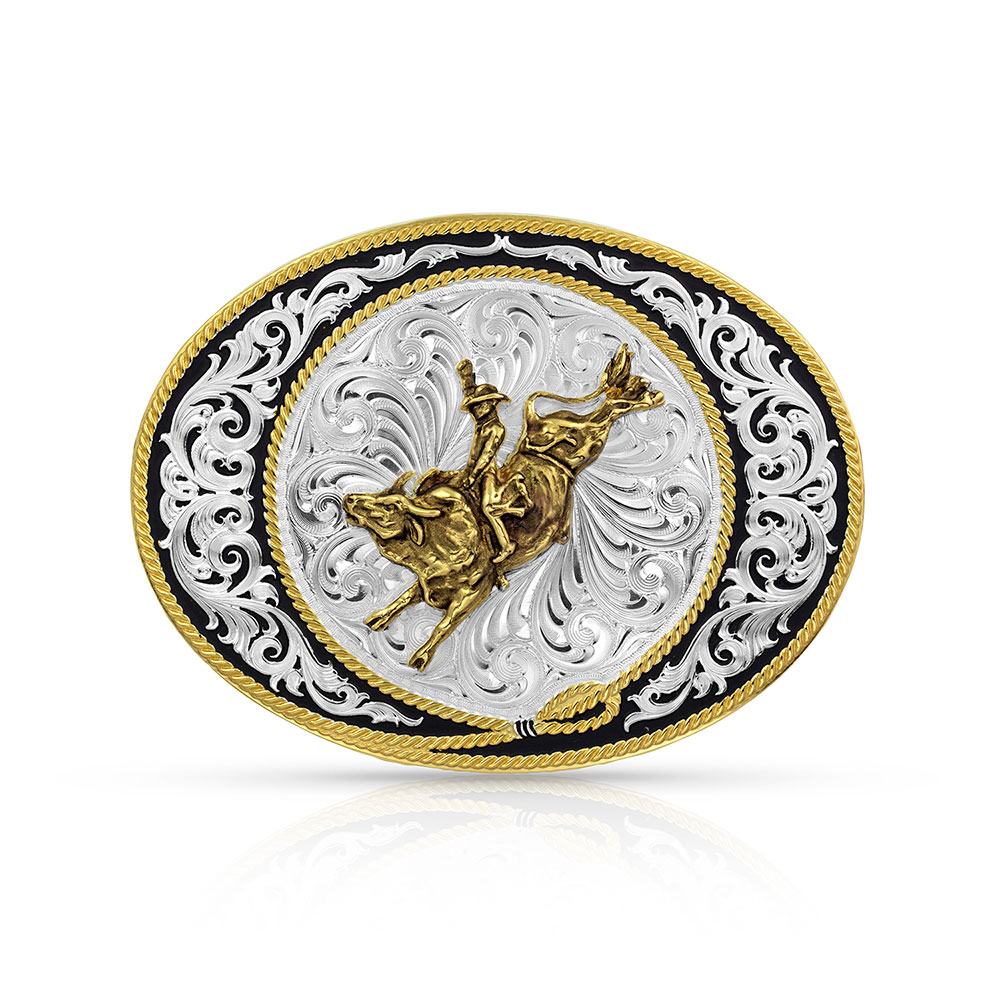 Ranch Rope Bull Rider Buckle