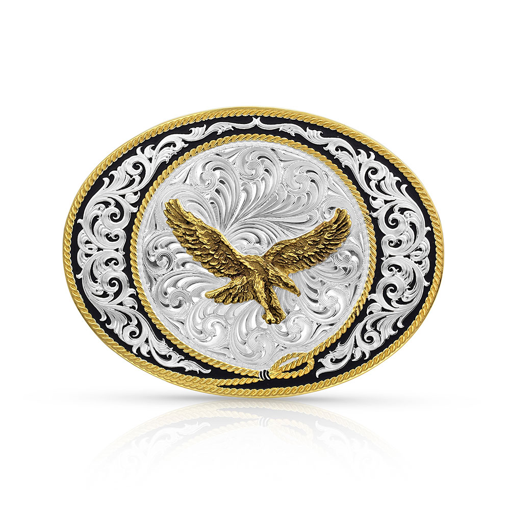 Ranch Rope Eagle Buckle