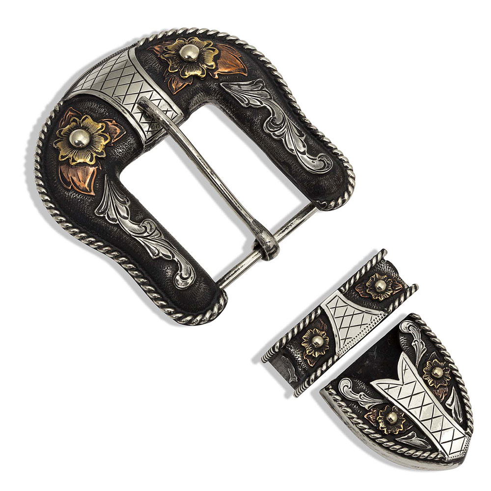 Following the Path Tri-Color Buckle Set