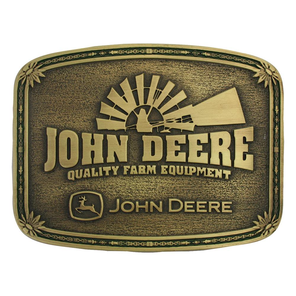 John Deere Windmill Heritage Attitude Belt Buckle