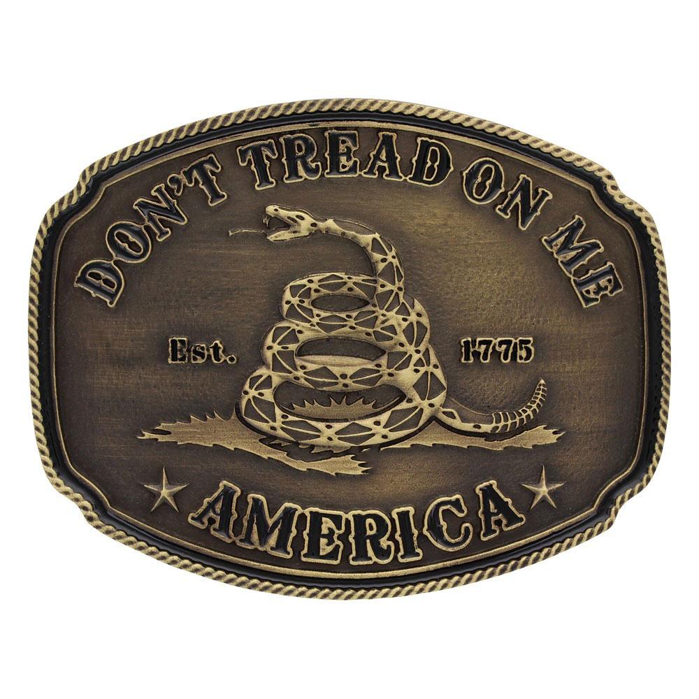 American Gadsden Don't Tread on Me Heritage Attitude Buckle