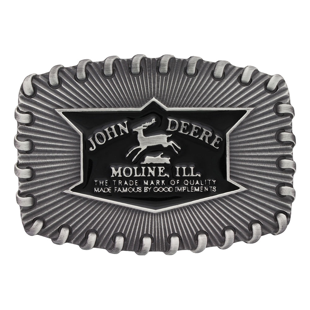 John Deere Whipped Stitch Edge Attitude Buckle