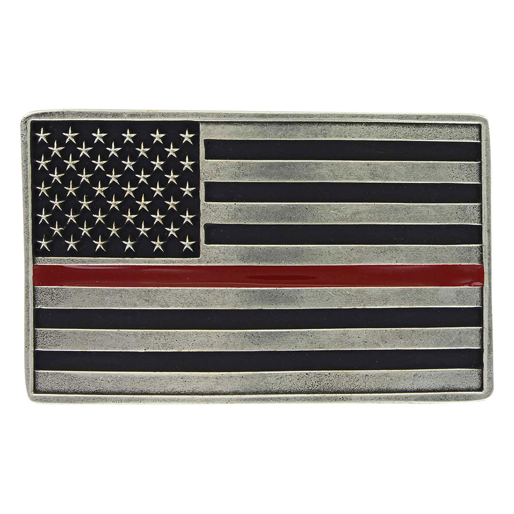 Stand Behind the Red Line Attitude Buckle