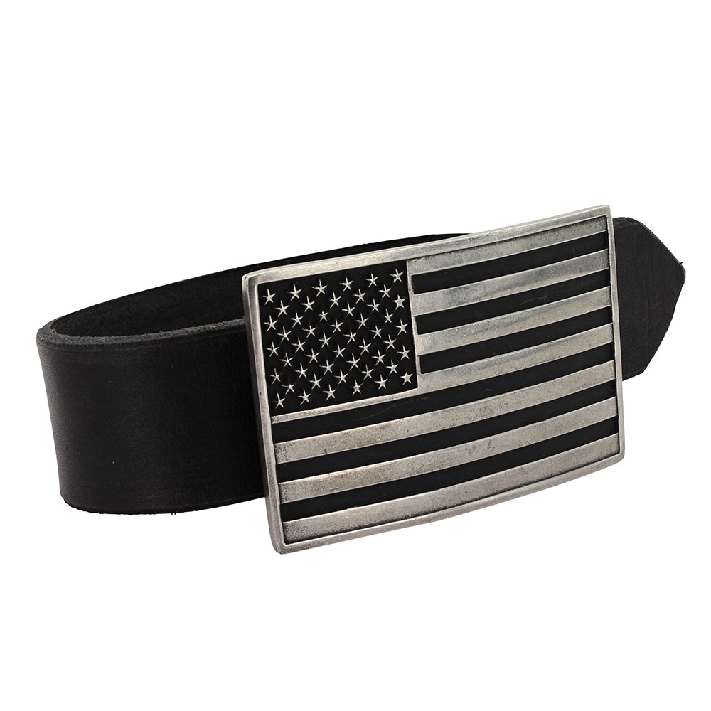 Antiqued American Flag Attitude Buckle