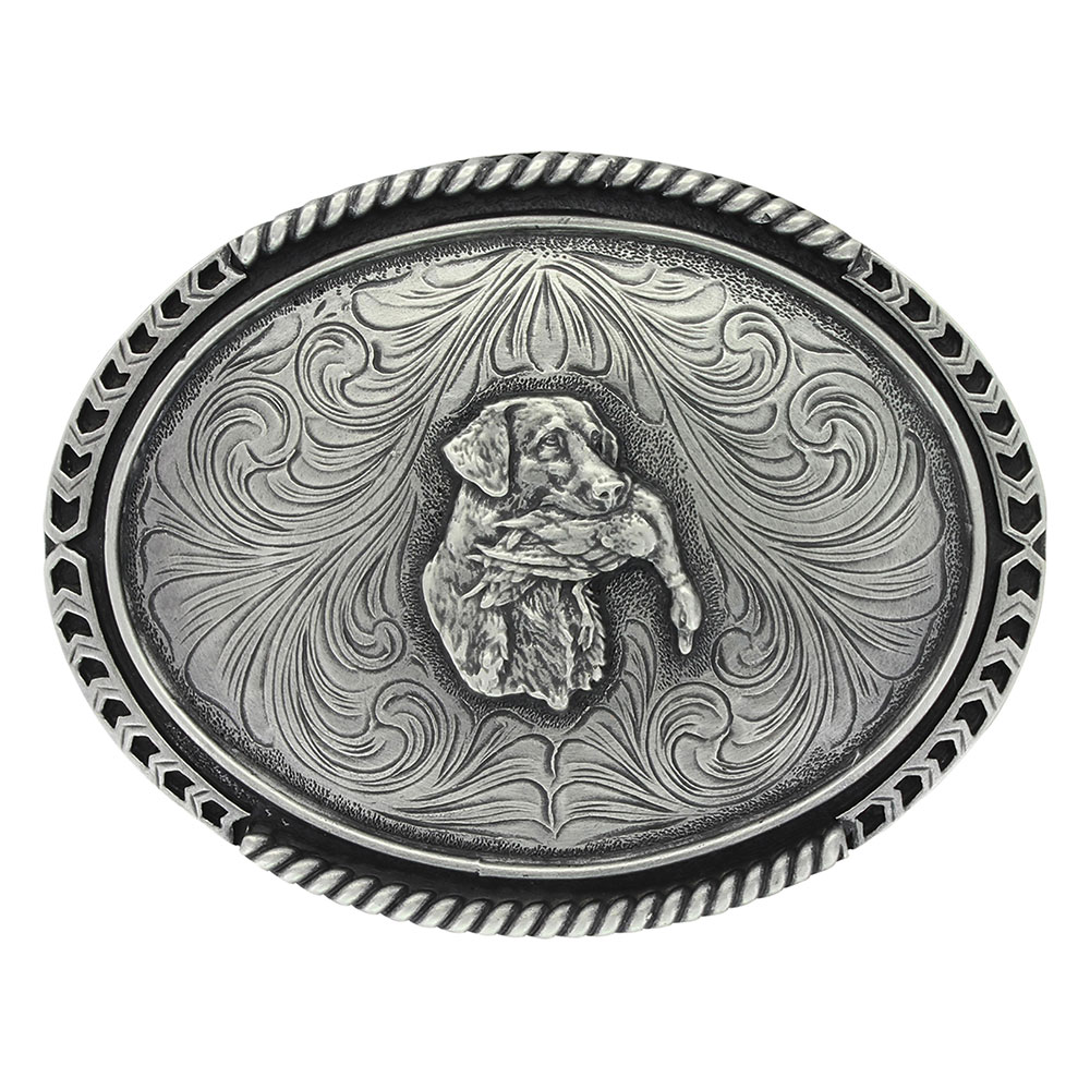 Antiqued Classic Retriever Attitude Buckle