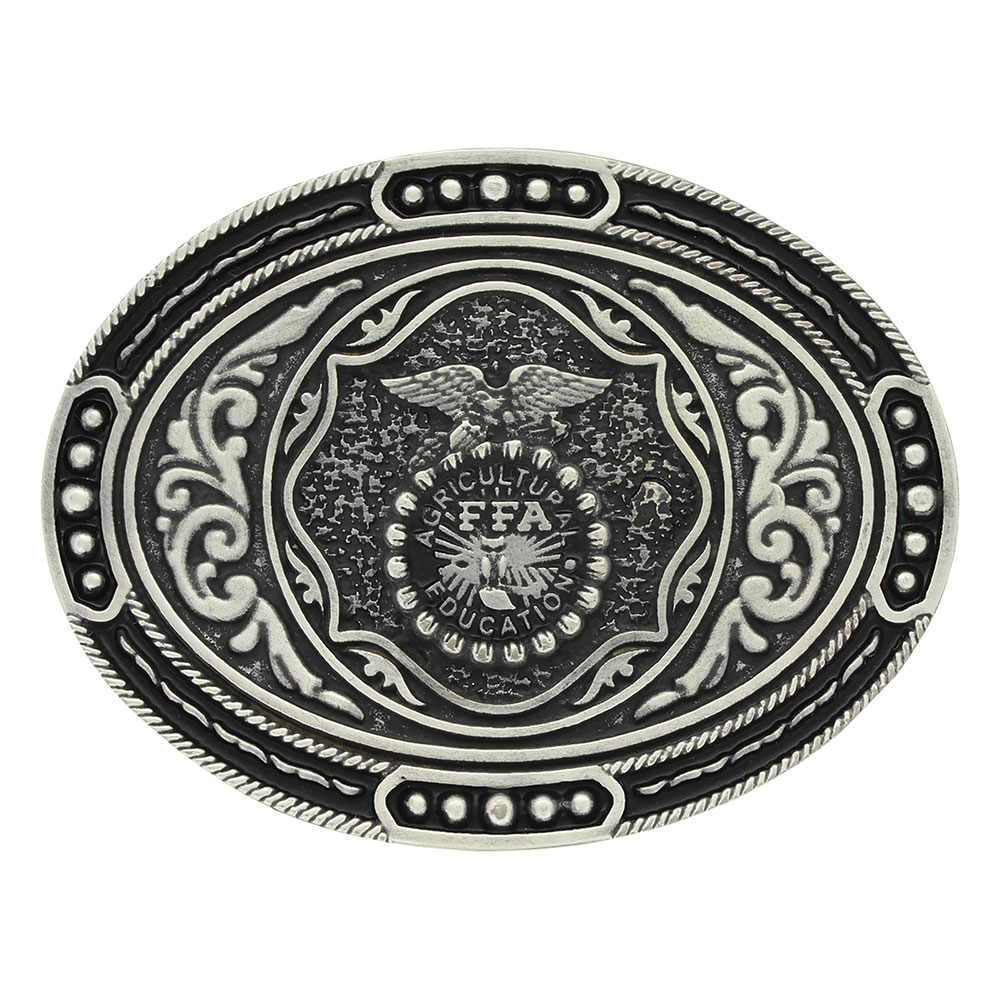 Classic FFA Antiqued Attitude Buckle