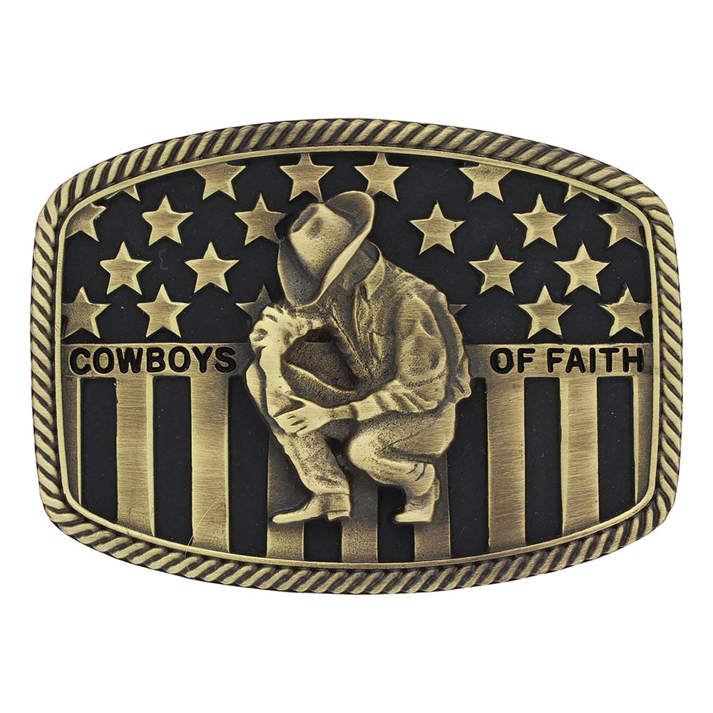 Cowboys of Faith® Heritage Flag Attitude Buckle